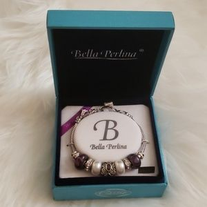Bella Perlina Purple Silverstone Bracelet